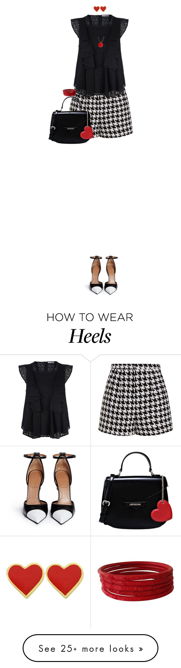 """""""High Waist Shorts"""" by ittie-kittie on Polyvore featuring Emma Cook, Rebecca Minkoff, Givenchy, Love Moschino, Lanvin, women's clothing, women, female, woman and misses"""
