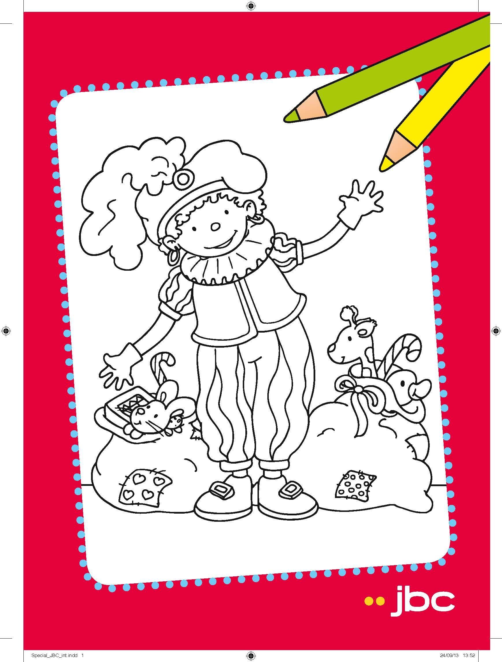 Drawing Kleurplaat Zwarte Piet Pere Fouettard Herenkleding Dameskleding Zwarte Piet