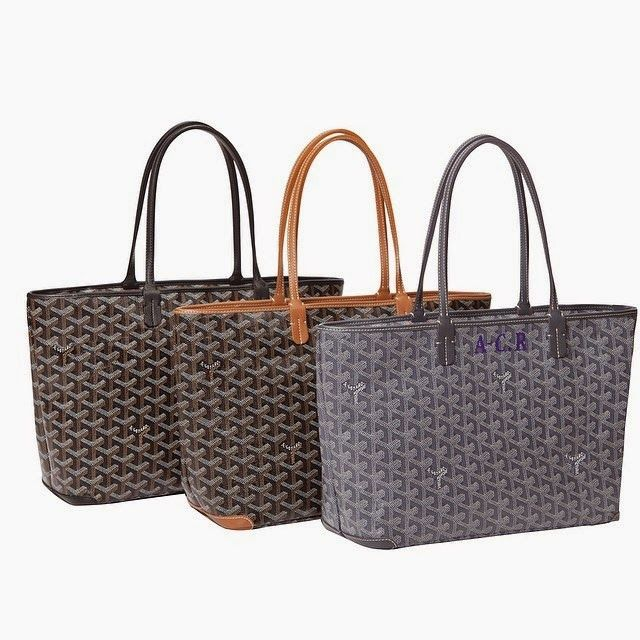 572082e7130b3 Goyard Artois. It has a zip top and leather edges which will protect the  canvas from wearing out too much. Measuring 30cm x 24cm