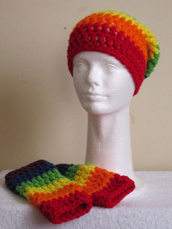 Handmade Chunky Beanie Hat and Finger-less by VansBasicWear