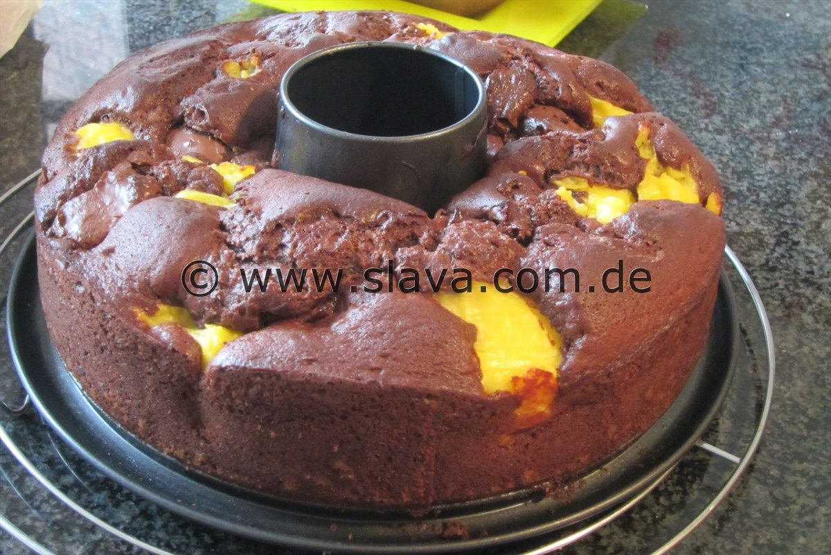 Saftiger Schokokuchen Mit Pudding Nutella Klecksen Backen