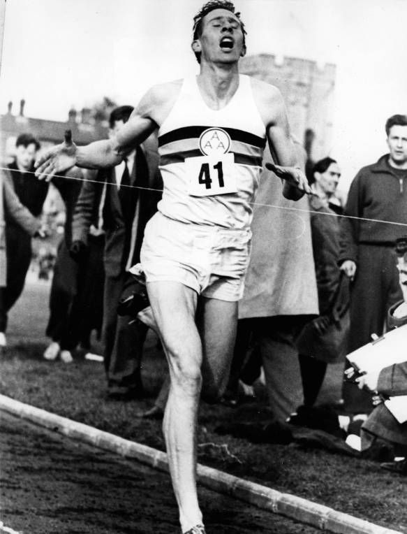 Roger Bannister!!! First man to run under the four minute ...