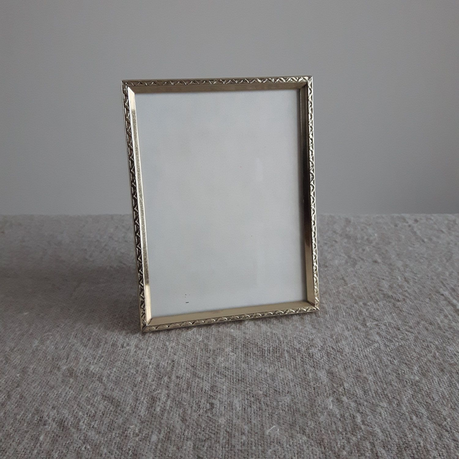 3 14 x 4 14 brass gold tone metal picture frame mid x brass gold tone metal picture frame mid century cm x cm heirloom family photos rectangular small frame by bluechickenvintage on etsy jeuxipadfo Images