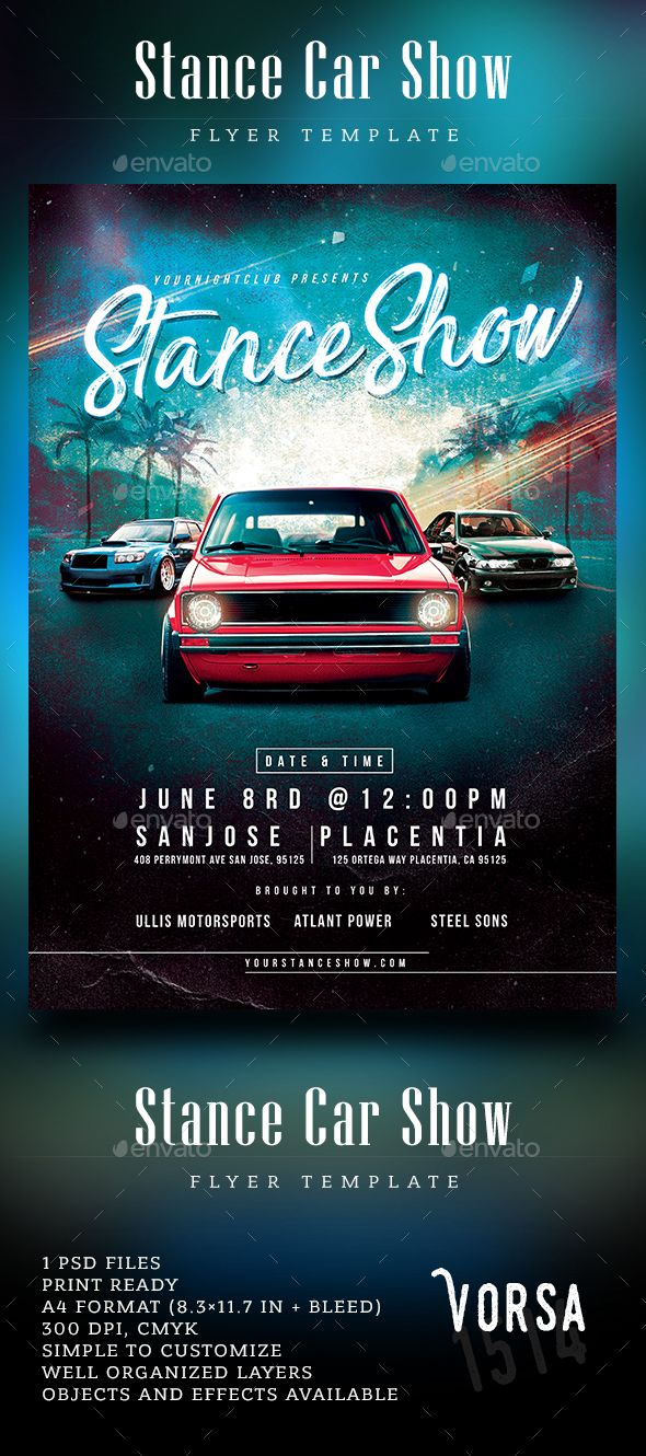 Stance Car Show Flyer Event flyers, Flyer template and Cars - car flyer template