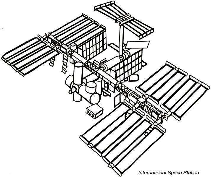 International Space Station Drawing Space Tattoo International