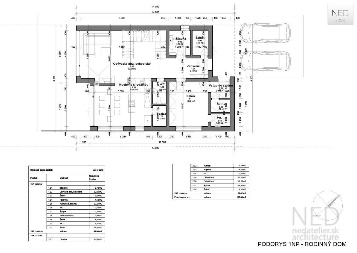 Návrh domu MAC Satteldach modern, Grundriss, Haus grundriss