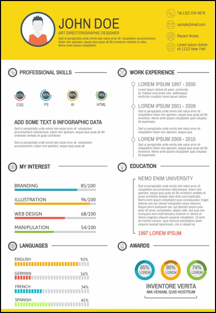 5 Sites To Create An Awesome Infographic Resume Infographic Resume Good Resume Examples How To Create Infographics