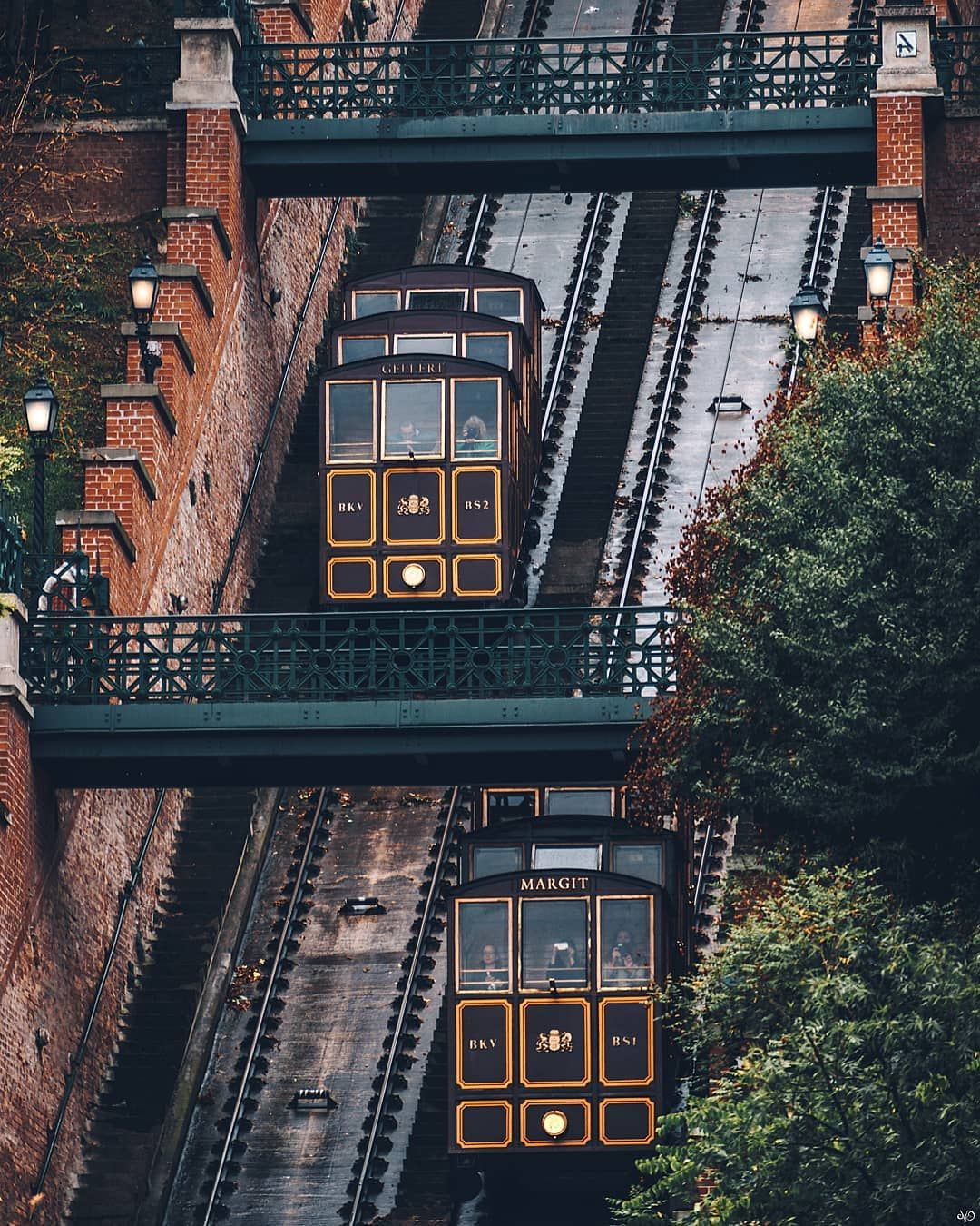 The Budapest Castle Hill Funicular Or Budavari Siklo Is A Funicular Railway In The City Of Budapest In Hungary It Links The Adam Budapest City Castle