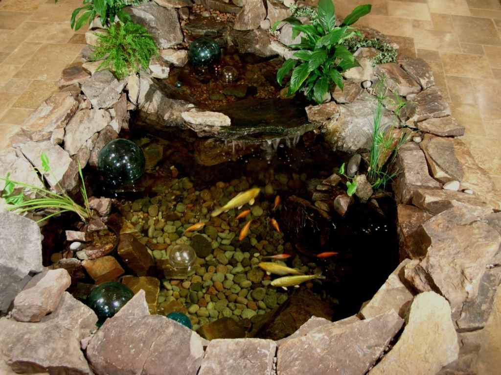 Small robust indoor koi pond indoor water gardens for Indoor koi pool