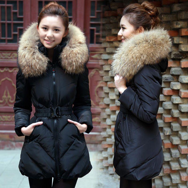 Ladies Womens Faux Fur Hooded Jacket Warm Winter Zip Up Parka Coat ...