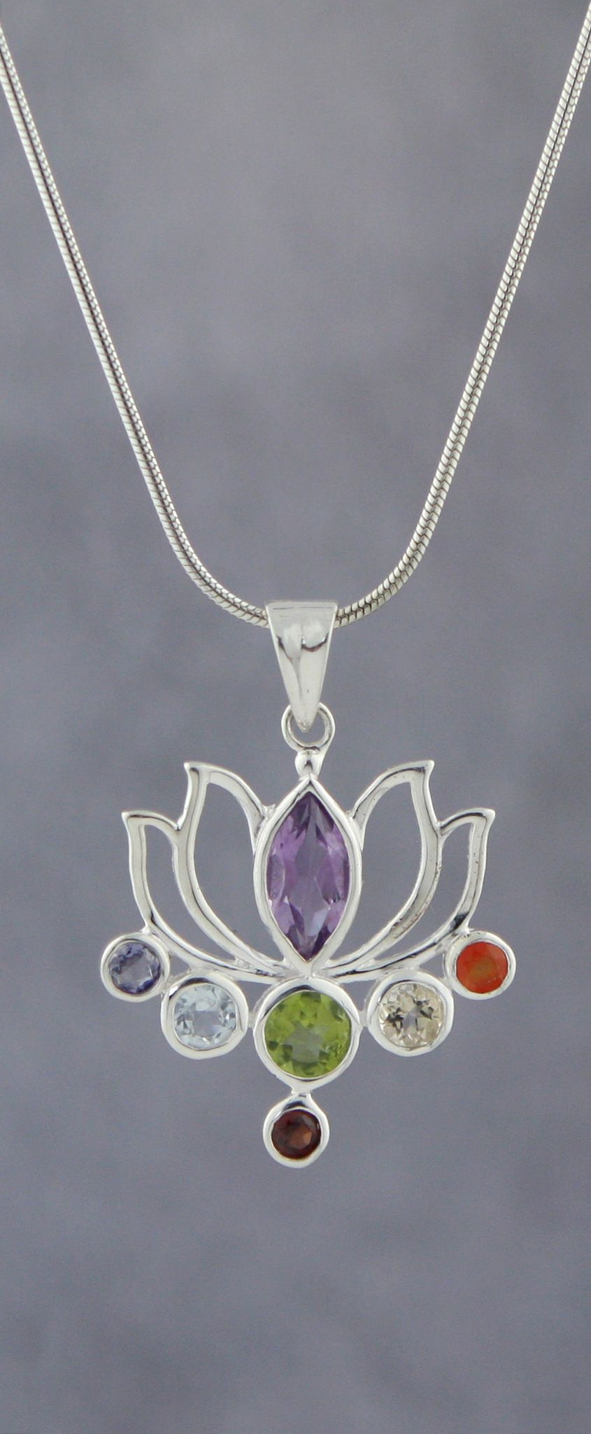 Sterling Silver Lotus Chakra –A Buddha Groove Original!
