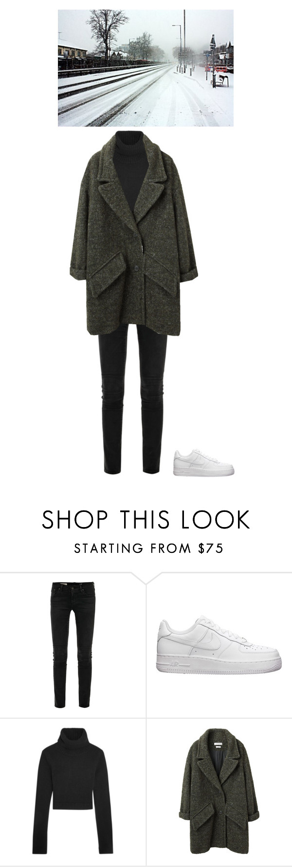 """""""Winter Vibess"""" by brittany0045 on Polyvore featuring AG Adriano Goldschmied, NIKE, Michael Kors and Étoile Isabel Marant"""