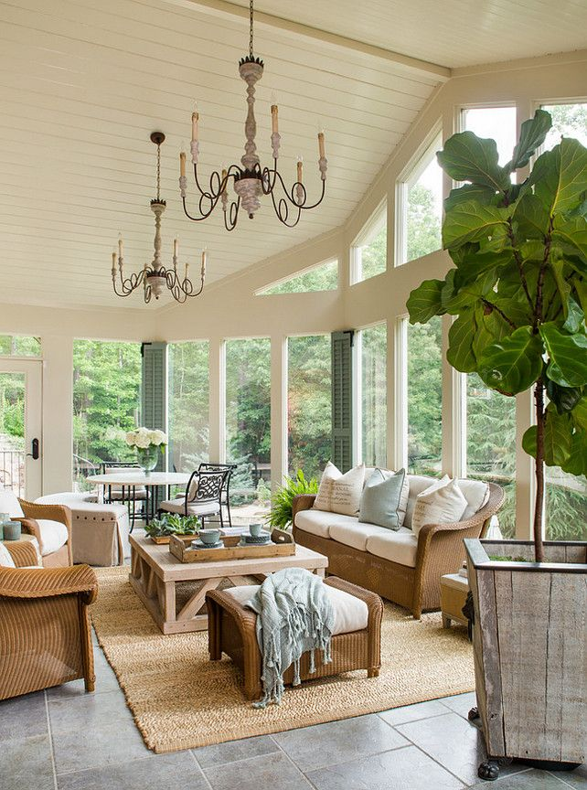 Natural Living Room Design Ideas: Living Room Floor To Ceiling Window And Cathedral Ceiling