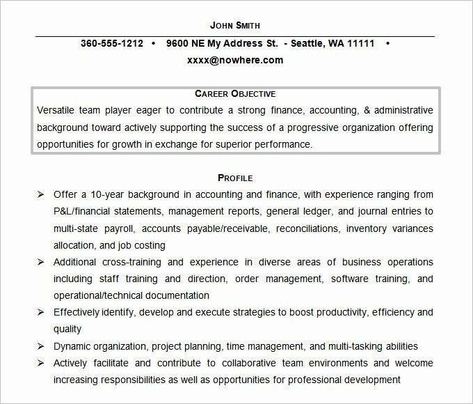 accounting resume objective statements lovely 61 resume