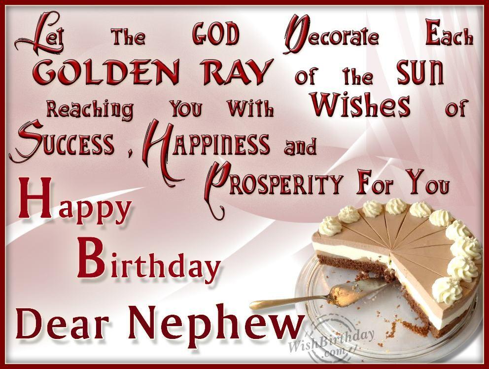 Wishing Happy Birthday To My Dearest Nephew juicy9fj – Birthday Cards for Nephew