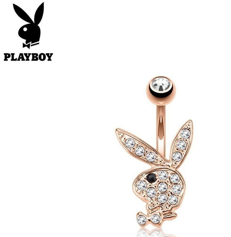 Clear Black Eye Multi Gem Playboy Bunny Dangle Belly Navel Ring Body Jewelry