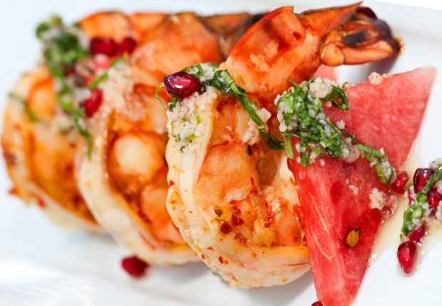 Recipe grilled prawn haloumi and watermelon salad the dining recipe grilled prawn haloumi and watermelon salad the dining table singapore food blog best singapore food forumfinder Images