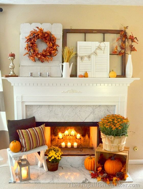 17 Best images about Fabulous Fall Mantels on Pinterest | Pumpkins, Fall  fireplace mantel and Fireplaces