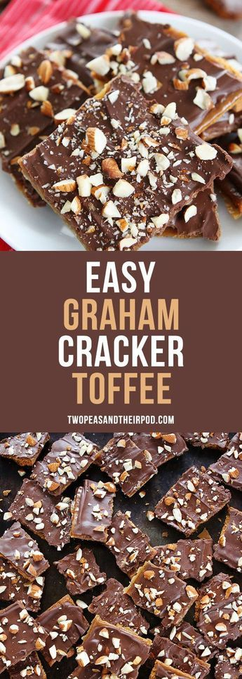 Easy Graham Cracker Toffee is the perfect holiday treat! You only need 5 ingredients to make this delicious and addicting toffee! Make it for holiday parties and gift giving! #holidaytreats