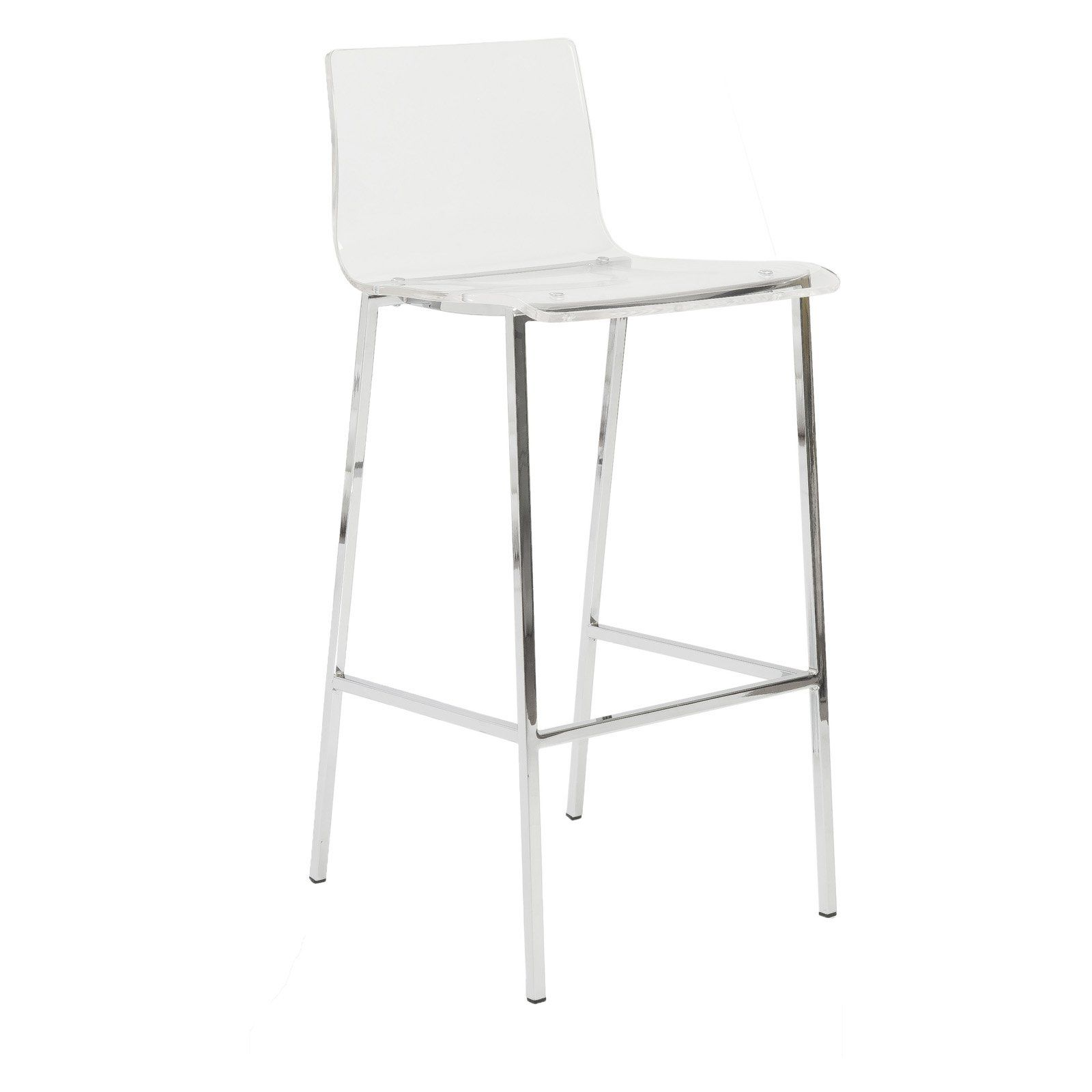 Euro Style Chloe Acrylic Bar Stools  Set Of 2