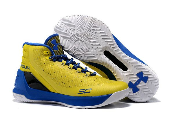 4297573e5e7 2017-2018 Sale UA Curry 3 Fast Shipping Under Armour Curry 3 Yellow Blue Basketball  Shoe for Sale
