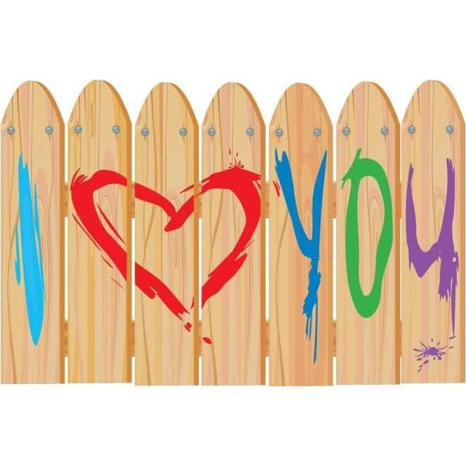 free vector valentine I Love You Wood Wall http://www.cgvector.com ...