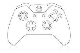 Coloring For Children With Playstation Controller Drawing Of A