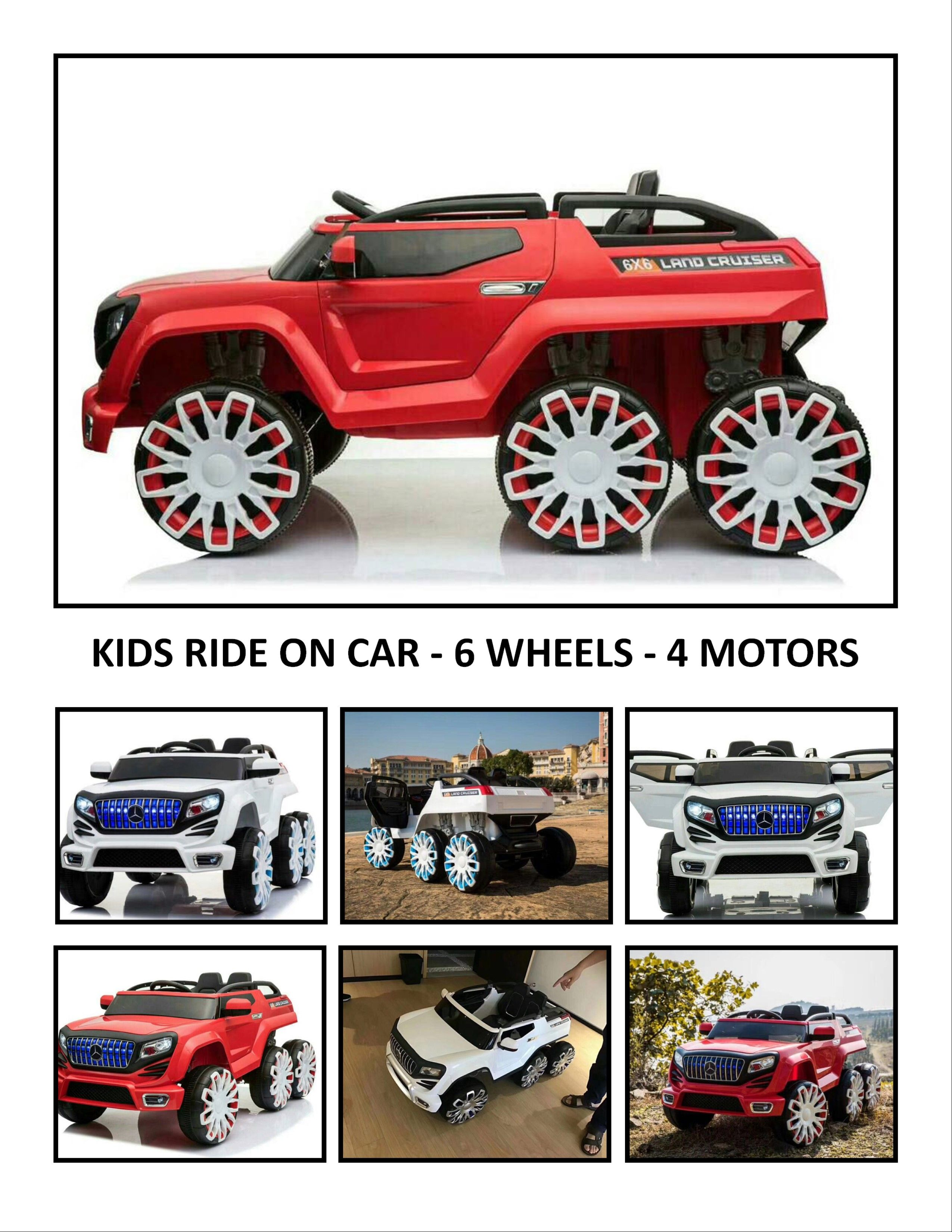 0ad7239d1 Kids Ride On Car - Land Cruiser - A Kids True Beast - 6 Wheels - 4 Working  Motors