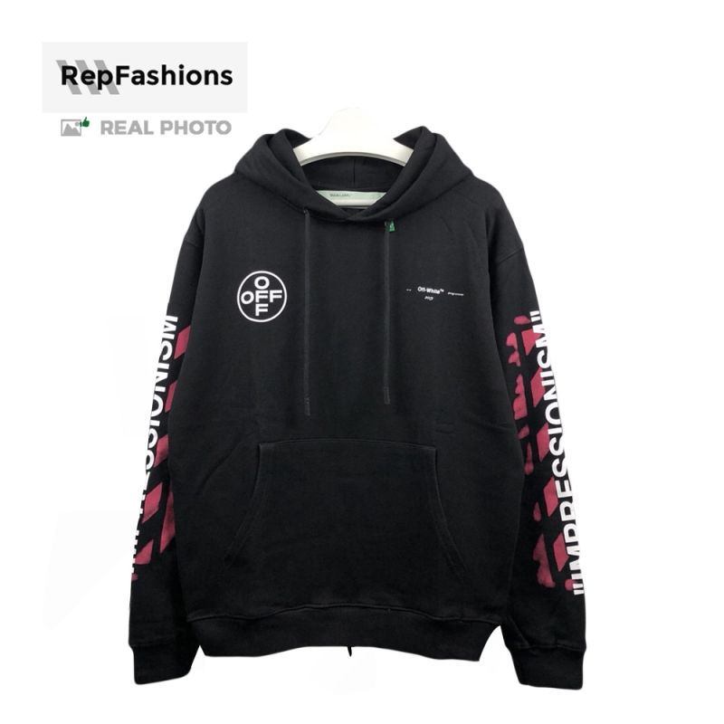 Rep Off White 99 Impressionism Hoodie Hoodies Off White White
