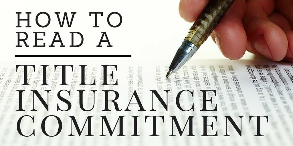 Understanding Title Insurance How To Read A Preliminary Title