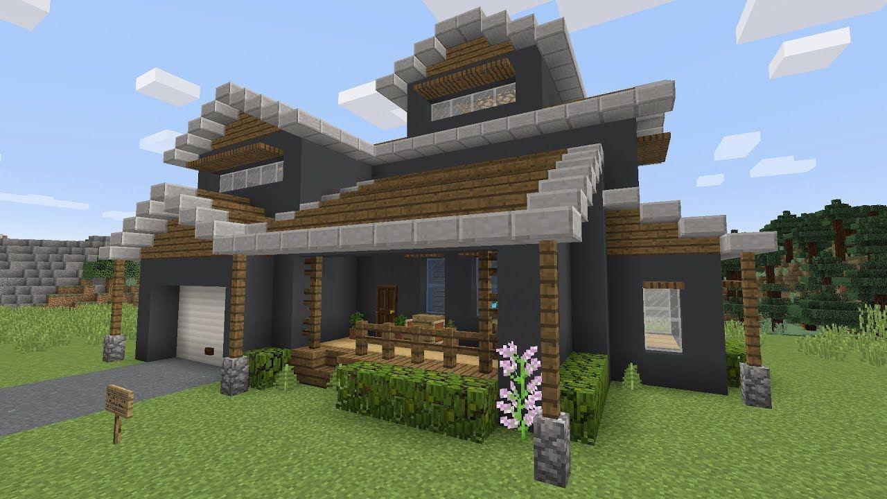 Modern Suburban Minecraft House Tutorial https://cstu.io ...