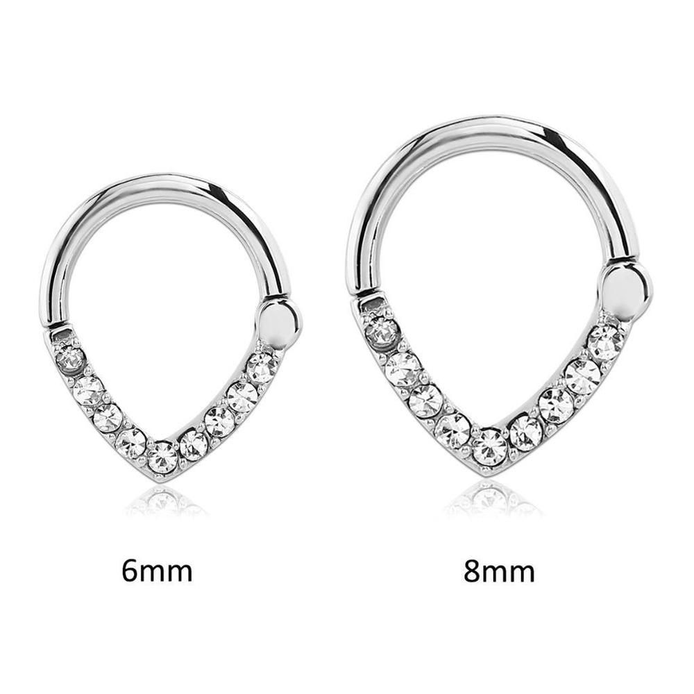 Hinged Septum Clicker 316L Surgical Steel Nose Ring Hoop Ear ...