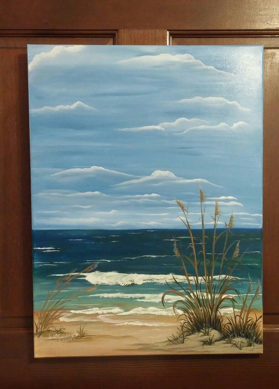 Original Acrylic Painting By Jodim Ocean Waves Acrylic Painting Landscape Paintings Acrylic Wave Painting Seascape Paintings Acrylic