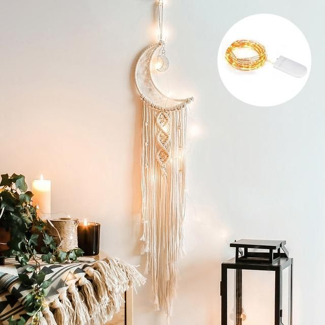 SAY HELLO to our Very distinctive woven bohemian Dream catchers! Hand woven and versatile, these beauties are suitable for either hanging in the living room, or bedroom. Transform your interior and mood of your dream boho bedroom with our creamy cotton white pieces. They also make the perfect gifts! Specification: Pattern Type: geometricStyle: Bohemiancolour:creamy-whitematerial:cottonsize:55*70cmPackage Contents:1*tapestryOnly the above package content, other products are not included. Material