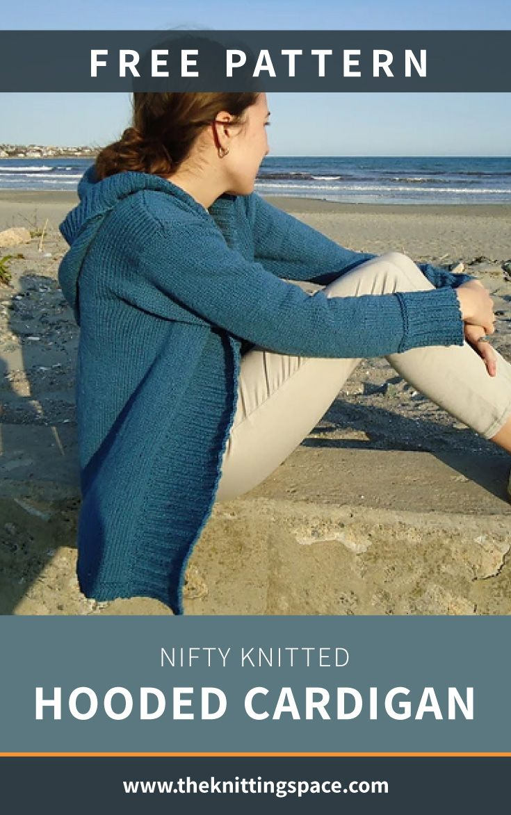 Nifty Knitted Hooded Cardigan [FREE Knitting Pattern]