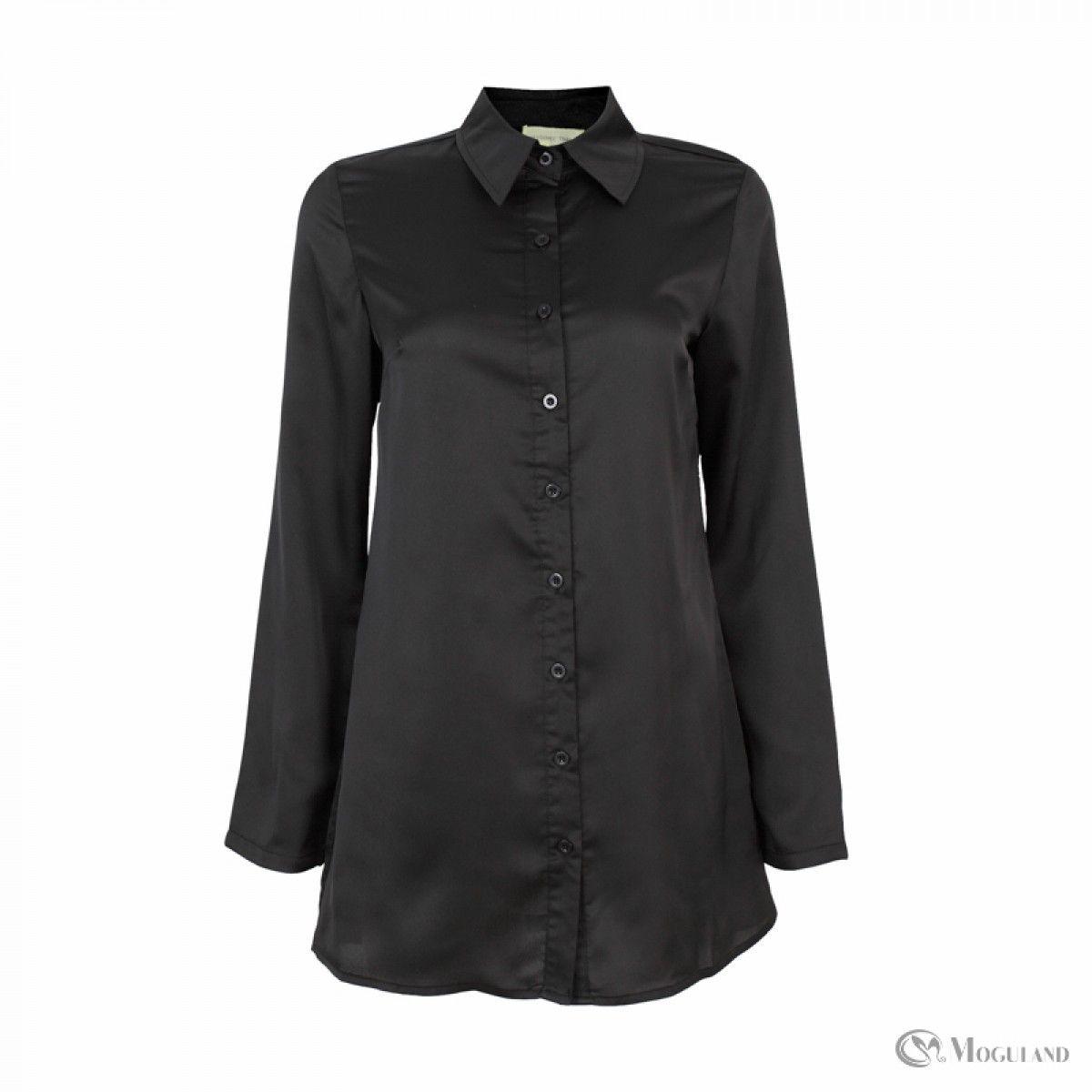 00b17e235267 Black Satin Blouse Ladies
