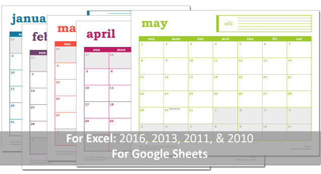 Free Excel Calendar Excel Template Calendars 2016 Template And