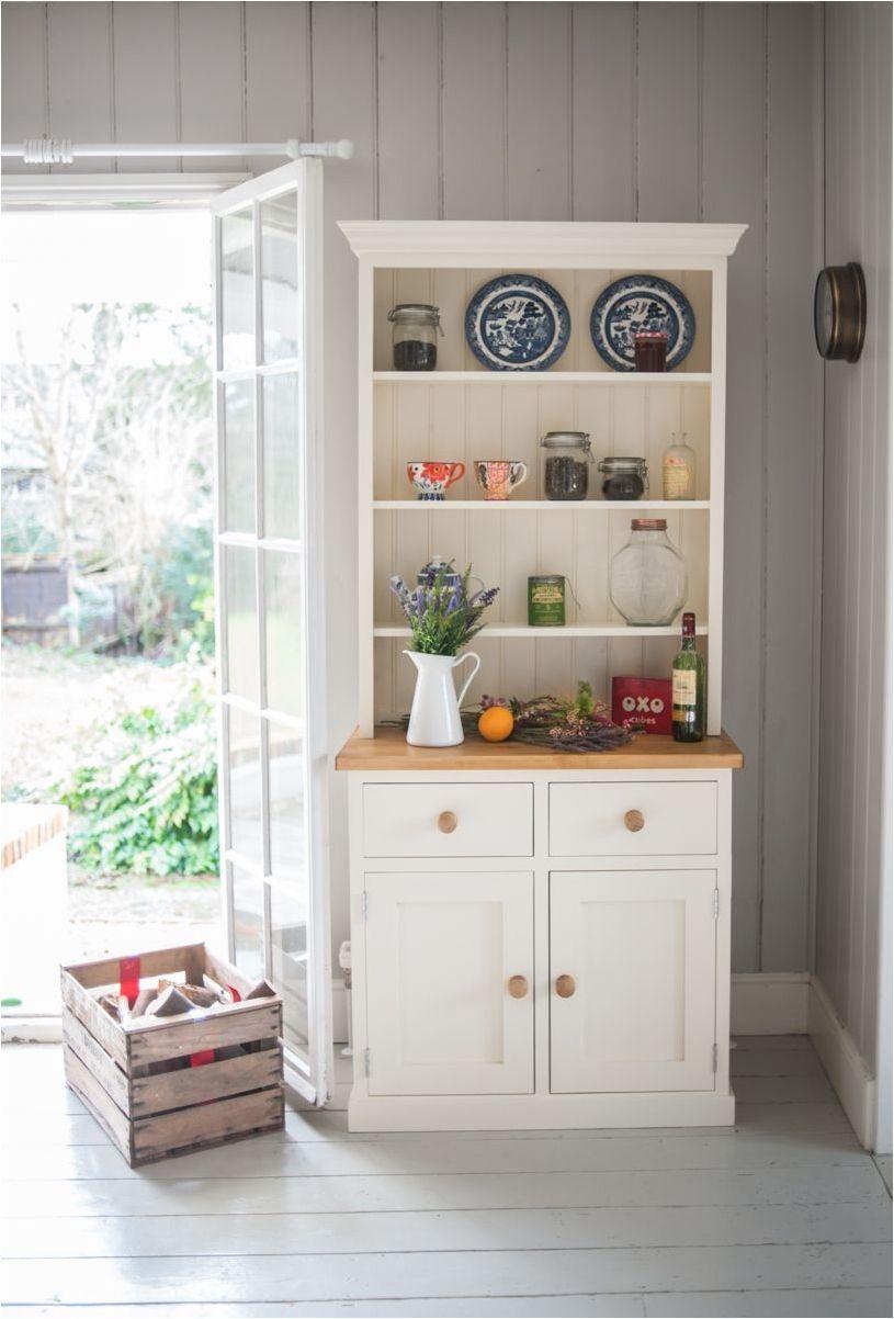 Download Wallpaper White Wood Kitchen Dresser