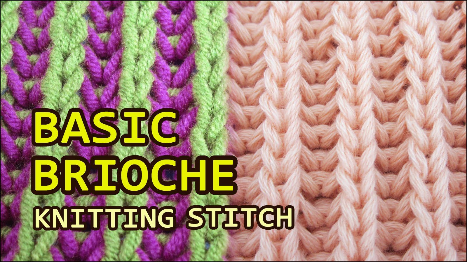Basic brioche knitting one color two colors video tutorial knittingcentral brioche knitting one color two colors want to create a ribbed pattern but with a little more stretch flair and also reversible bankloansurffo Image collections