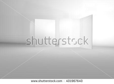 blank empty brochure catalog mock-up in a5 size 3d render view - blank brochure template