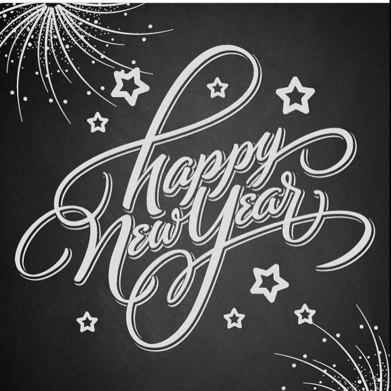Happy new year Newyear, New year printables, Chalkboard art