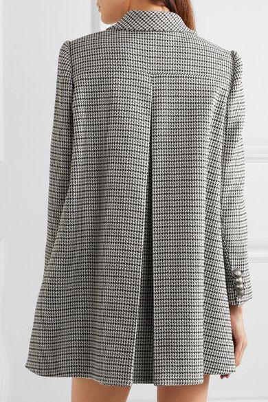 Alexander McQueen - Double-breasted houndstooth tweed coat