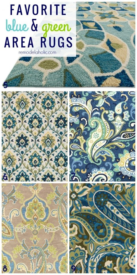 Top Picks For Green And Blue Area Rugs Patterned Paisley Striped