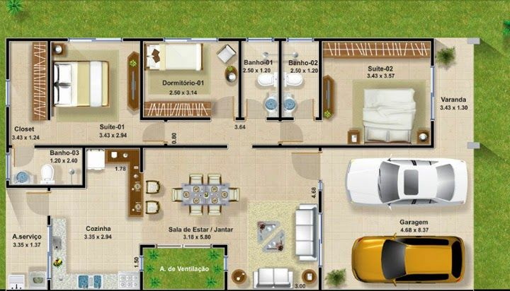 Plantas de casas para construir smallest house - Casas para construir ...