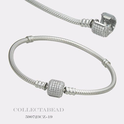 "Authentic Pandora Sterling Silver Bracelet with Signature Lock 7.1"" 590723CZ https://t.co/jhUKLLwMGr https://t.co/VzFPLfLLrg"