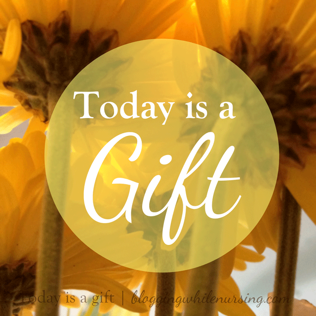 Today Is A Gift. A post about being #mindful of today. To #inspire us to take charge of the important things and really have #gratitude for everything we were given today.