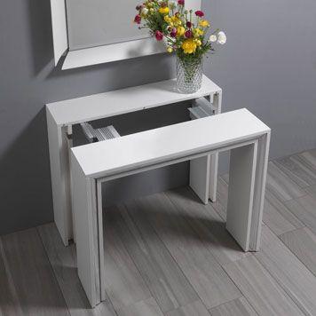 Tavolo consolle allungabile con struttura 4 allunghe in for Consolle per cucina