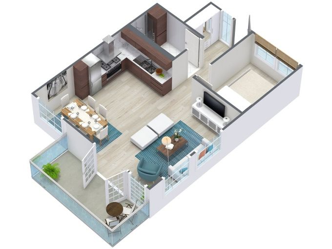 Create 3d Floorplan Or Render Your Project By Sketchup By Tonhienkts Simple House Design Home Design Software Floor Plan Design