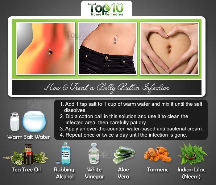 How To Treat A Belly Button Infection Piercings Pinterest