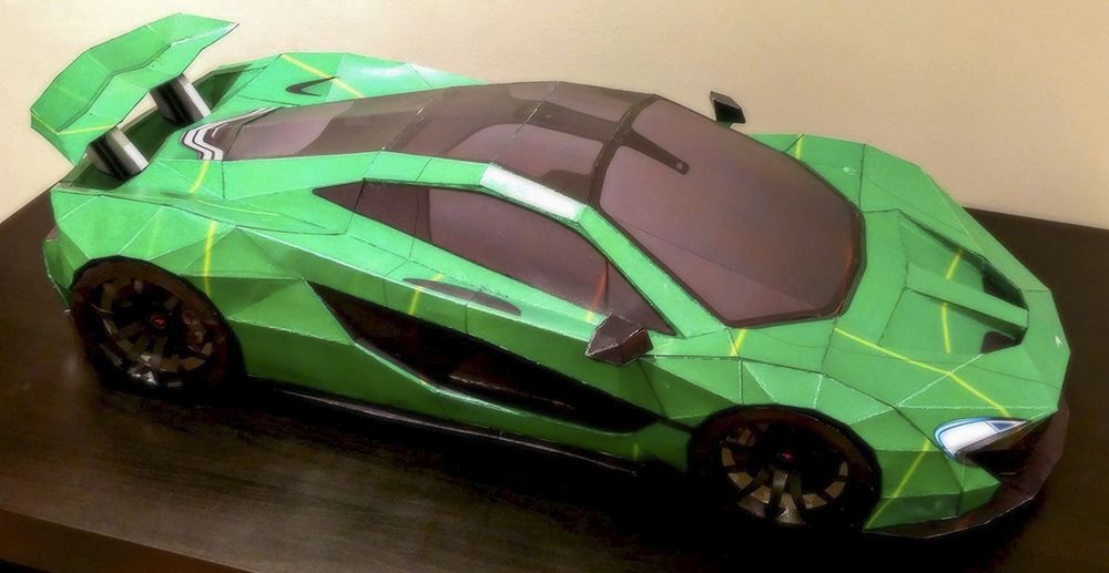 Mclaren P1 Lush Diy Papercraft Model Built By Sorin Gabriel Of